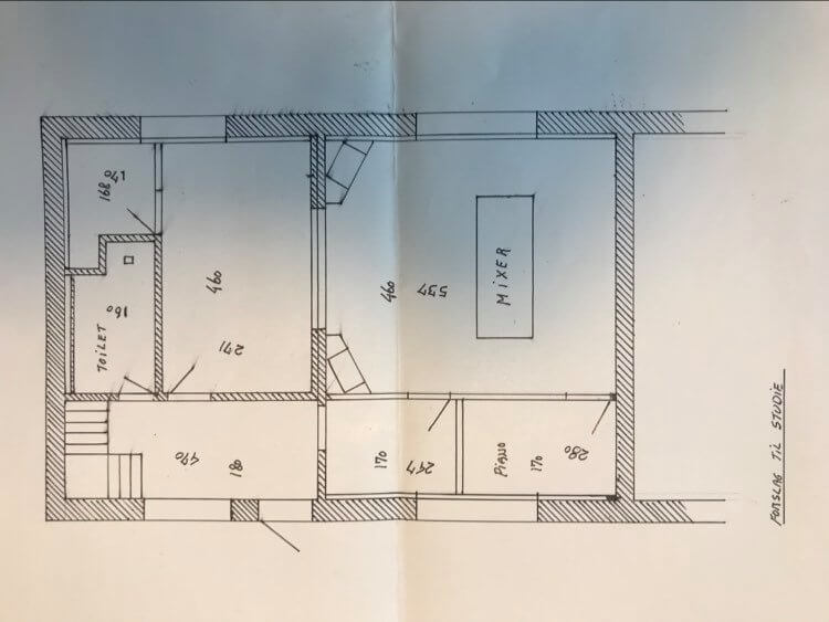 Komo Studiet 1982 Arktitekttegning